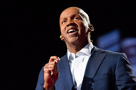 Bryan Stevenson giving a lecture.