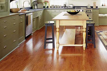 oak kitchen floor