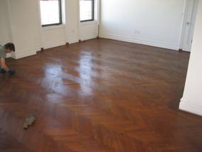 oak herringbone floor