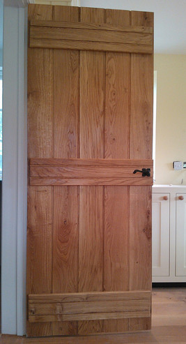 rustic oak door