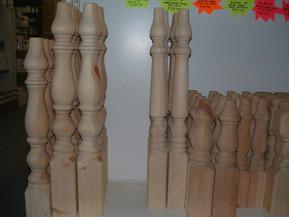 turned oak fittings