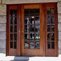solid oak glass panel doors with sidescreen