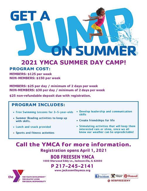Get a Jump on Summer Daycamp 2021 Flyer