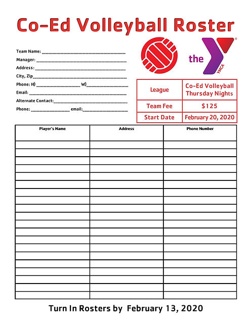 Co-Ed Volleyball Roster Form  2020.jpg