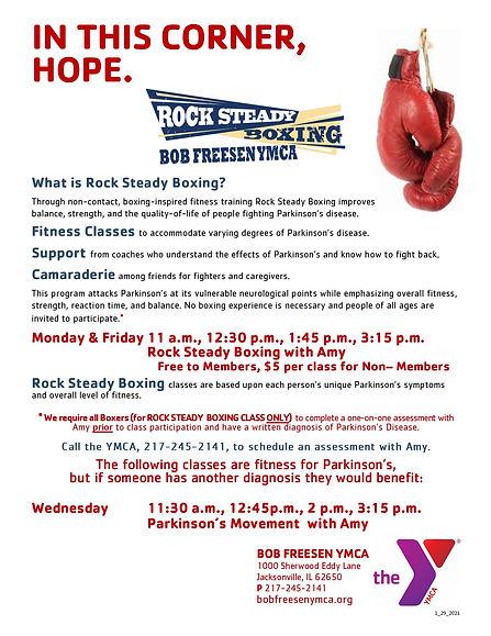 Bob Freesen Rock Steady Boxing Flyer 9_2