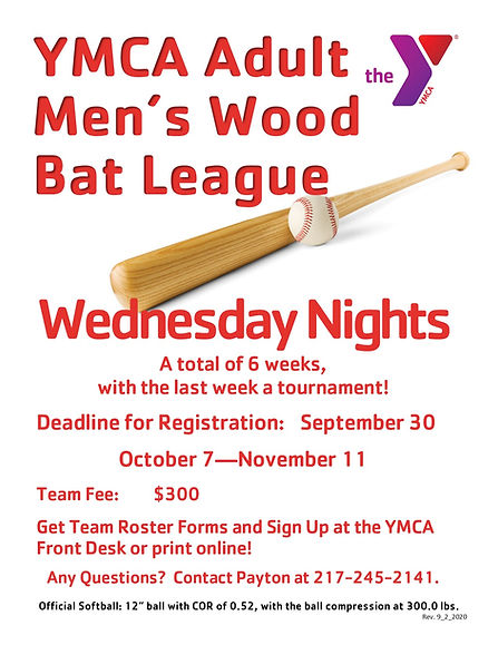 Fall Wood Bat wed NIGHT Softball FLYER 2