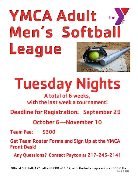 -Fall Softball Tues League FLYER OCT 202