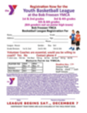 Full Page YMCA youth Basketball registra
