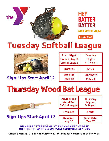 Adult Softball League Register Now! re A