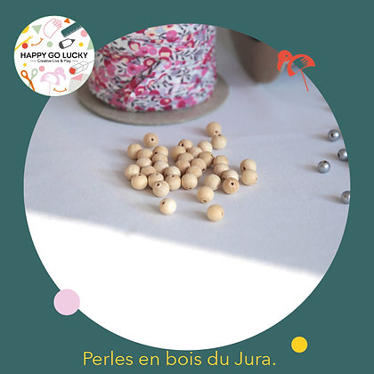 15 Perles en bois du Jura