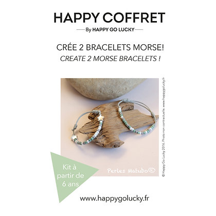 Crée deux bracelets morse