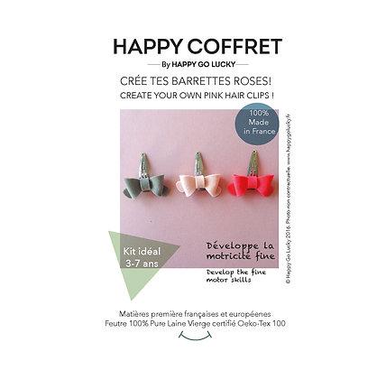 Crée tes barrettes roses !