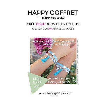 """""""Crée un double duo de bracelets liberty et velours"""""""