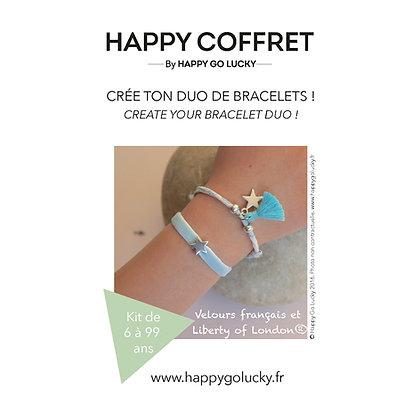 Crée ton duo de bracelets liberty et velours