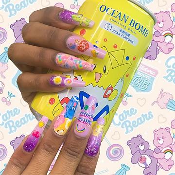 Care Bears nails
