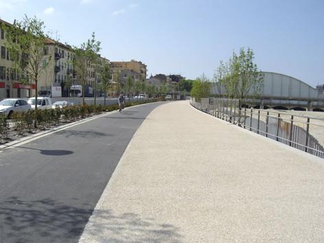 Couverture du Paillon à Nice en béton désactivé