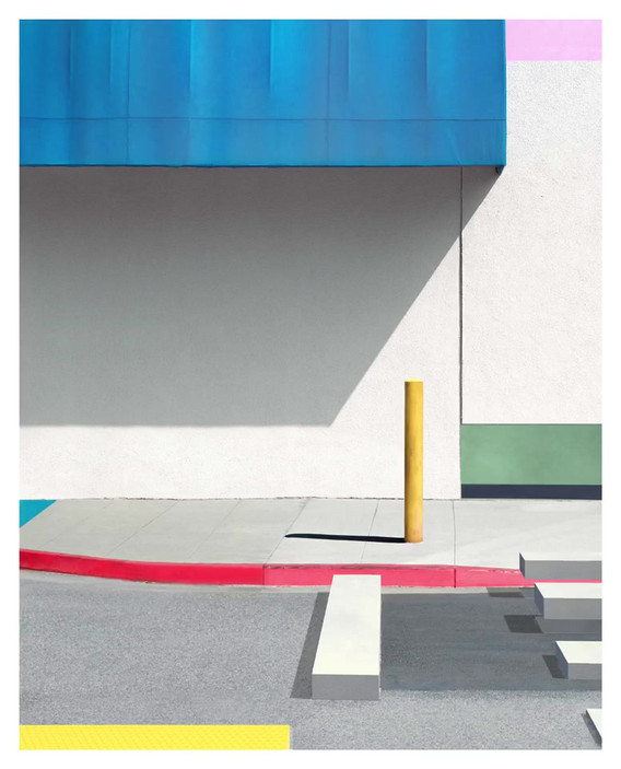 Blue Awning with Yellow by @bran_cuzi