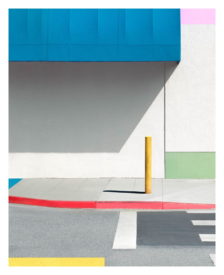 Blue Awning with Yellow, 2017