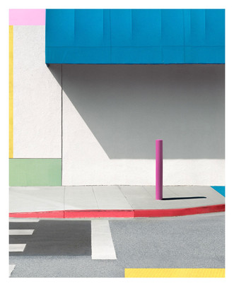 Blue Awning with Pink, 2017