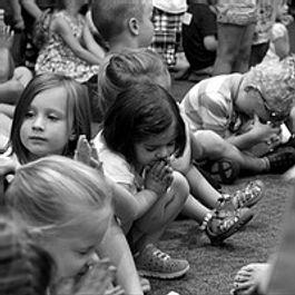 Kids sitting on the floor