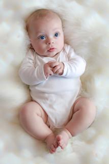 little boy with big blue eyes