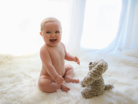 Little Sitter Session - Baby F's Natural & Simple Photoshoot   Starspeckled Hearts Photography