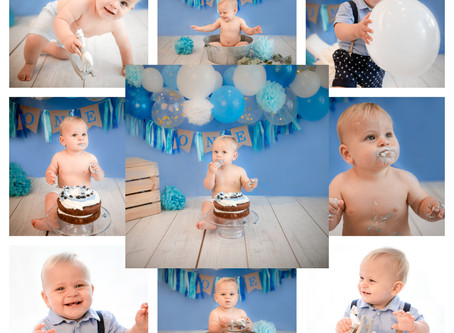 Baby's 1st Birthday Photoshoot | Cake Smash | Surrey | Hampshire | Berkshire | Winchester | Windsor