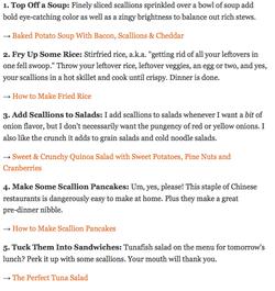 Top 5 Ways to Use Scallions