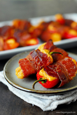 Spicy Bacon Wrapped Sweet Peppers