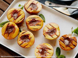Grilled Peaches with Cinnamon Butter