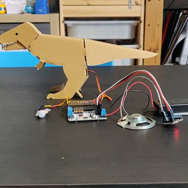 T-rex Micro-controller with sound