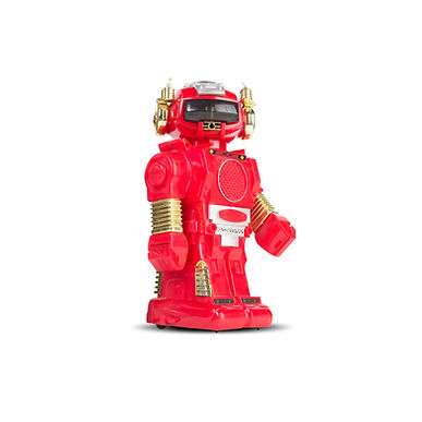 Red robot next to Q-ME, LLC, testimonial from first grade public school teacher.