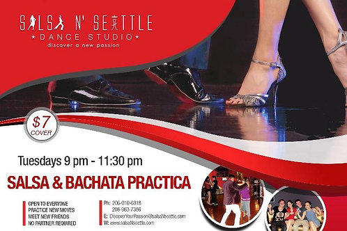 Every Tuesday Night 9pm to 11:30pm Join us for Salsa & Bachata Social Tuesdays