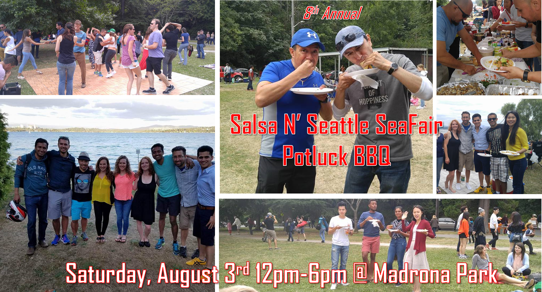 8th Annual Salsa N' Seattle SeaFair Potluck BBQ
