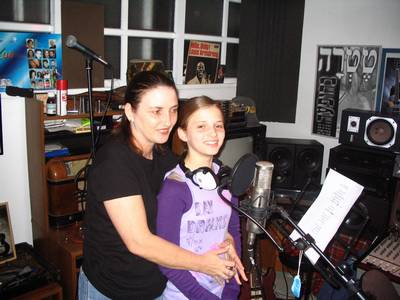 Liel and Tami at the Studio