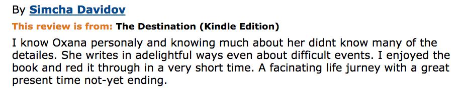 Book Review Simcha Davidov