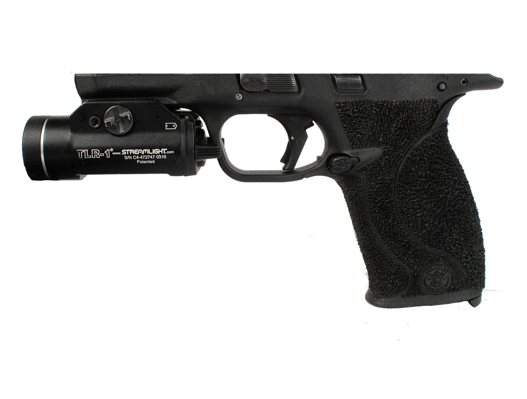 Stippled Smith and Wesson M&P with Streamlight TLR-1