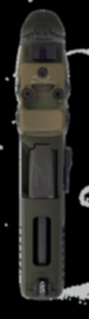 Custom Sig 320 with RMR cut, Trijicon RMR, Tijicon supressor height sites, slide window, and cerakote built by GA Firing Line.