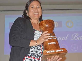 Izuka gets Administrator of the Year award