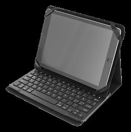 """DELTACO Fodral och Bluetooth tangentbord för 10"""" surfplattor, nordisk layout, sv"""