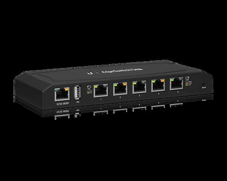Ubiquiti EdgeSwitch XP Gigabit switch, 5-Portar, 24V PoE, carrier-class, svart