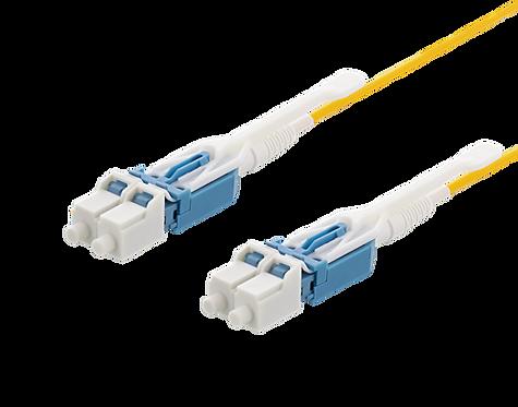 Fiberkabel LC – LC, duplex, singlemode, push/pull tab,APC, 9/125, 1m