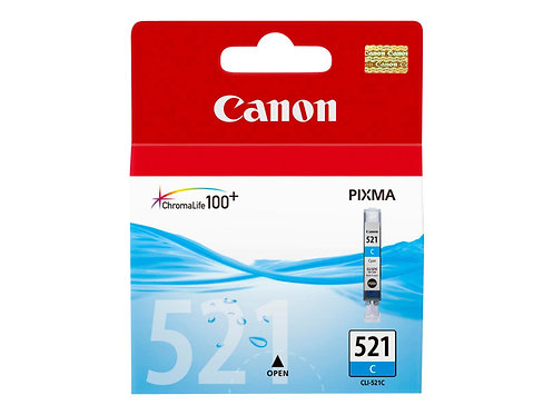 Canon CLI-521C - 9 ml - cyan - original - bläcktank - för PIXMA iP3600, iP4700,