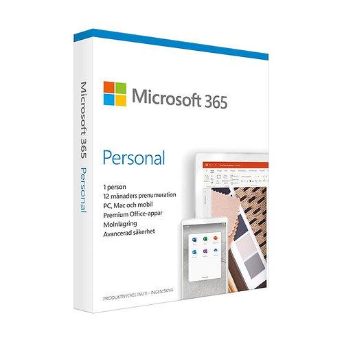 Microsoft® 365 Personal Svenska 1  anv 1 År - abonnemang