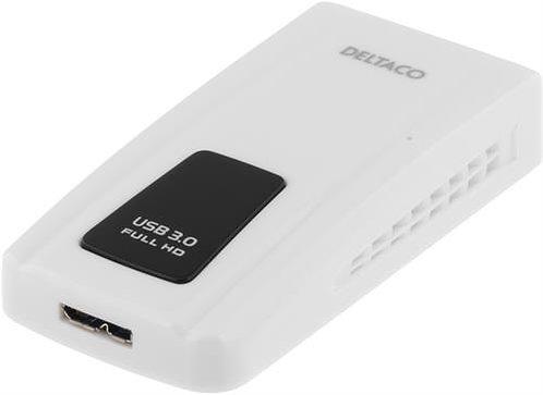DELTACO PRIME USB 3.0 till DVI/HDMI/VGA-adapter