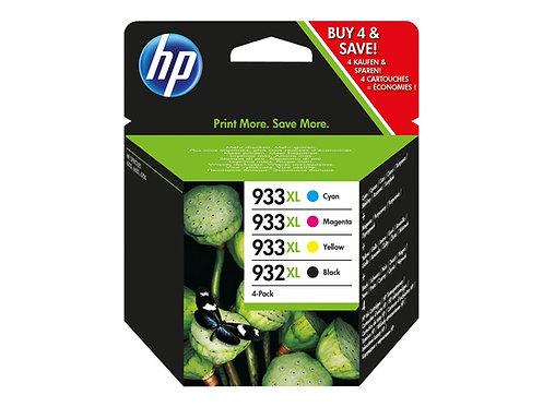 HP 932XL/933XL Combo Pack - 4-pack - Lång livslängd - svart, gul, cyan, magenta