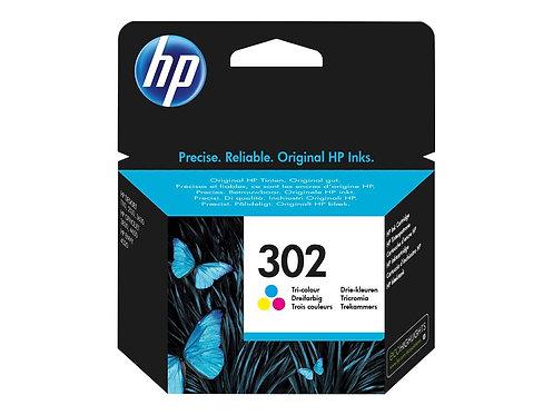 HP 302 - Färg (cyan, magenta, gul) - original - bläckpatron - för Deskjet 11XX,