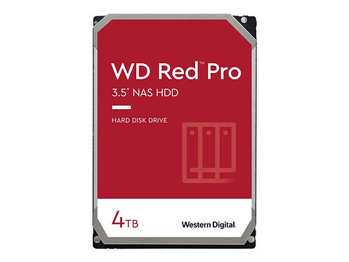 WD Red Pro 4TB SATA 6Gb/s 128MB Cache Internal 3.5inch 24x7 7200rpm optimized fo