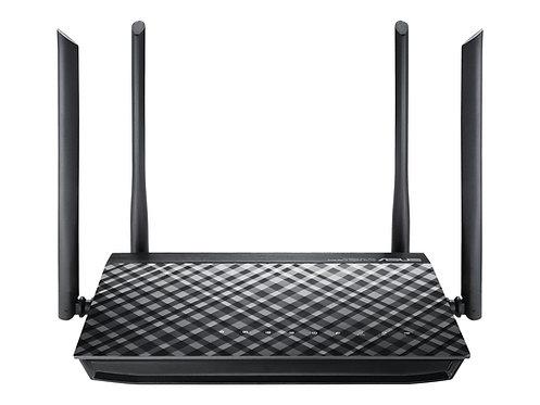 ASUS RT-AC1200G+ - Trådlös router - 4-ports-switch - GigE - 802.11a/b/g/n/ac - D