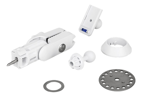 Verktygslös snabbfäste för Ubiquiti CPE-produkter, vit